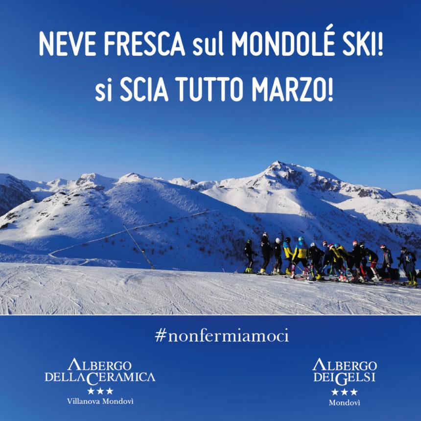 Neve fresca sul Mondolé Ski: si scia tutto marzo!